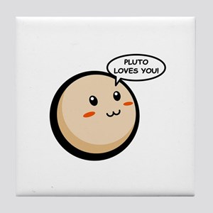 PLUTO LOVES YOU Tile Coaster